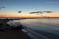 Sandy Point Sunrise (strjustin) Tags: lighthouse beach beautiful sunrise canon 1855mm sandypoint 60d canon60d