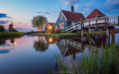 Blue hour Panorama of the cheese farm in the windmill- museumpark Zaanse schans (The Netherlands) (jazzmatezz) Tags: park longexposure nightphotography travel bridge blue sunset holland reflection netherlands windmill museum architecture fairytale landscape puente spring zonsondergang saturated long exposure sonnenuntergang streetlights fineart nederland landmark olympus hour coloring pont brug lente printemps province touristattraction zaanseschans omd landschap noordholland touristic frhling niederlande zaandam windmolen reflectie jembatan coucherdusoleil windmhle 2016 zaanstreek lespaysbas avondfotografie moulinvent rverbres belanda langesluitertijd matahariterbenam eveningphotography straatverlichting attractiontouristique musimsemi kincirangin toeristischetrekpleister fotobooms em5ii