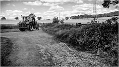Stainton . (wayman2011) Tags: uk mono farming tractors dales pennines lightroom countydurham farmmachinery teesdale bwlandscapes stainton wayman2011 fujifilmx70
