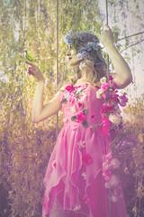 Peonia Rosa (Pauline L photographe) Tags: princess nature birds pink fairytale fantasy fairy fairydream flowers swing trees fineart fineartphotographer fineartphotography