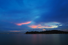 Pink clouds (elenaleong) Tags: reflections singapore pinkclouds labradornaturereserve keppelbaymarina elenaleong