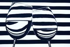 striped (*Chris van Dolleweerd*) Tags: reflection water glass studio 50mm blackwhite wine refraction wineglass liquid strobist chrisvandolleweerd