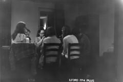 Friends playing games (Robin Geys) Tags: 2 kodak no brownie hawkeye ilford fp4 cartridge 125