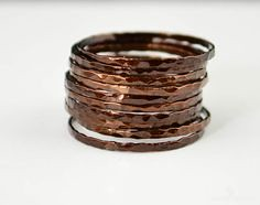 Super Thin Chocolate (alaridesign) Tags: super thin chocolate copper stacking ring these rings 11 each choose number you want from quantity pulldown elegant rustic original is alari