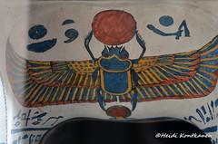 Winged Scarab (konde) Tags: ancient priest coffin hieroglyphs thebes deities scarab deirelbahri anthropoid 25thdynasty thirdintermediateperiod wingedscarab mummycoffin