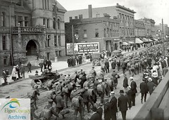 91st Battalion Marching East on Talbot Street, St. Thomas, June 25, 1916 (Elgin County Archives) Tags: elgincountyarchives stthomasontario 91stbattalion canadianexpeditionaryforce firstworldwar worldwari