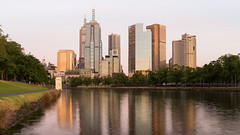 Reflections (samiKoo) Tags: city morning sky urban reflection building skyline canon buildings reflections river cityscape melbourne yarra cityview 6d melbournearchitecture 24105mml