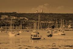 Portsmouth Harbor (mareksojka1) Tags: army hill sepia water harbor portchester portchesterharbor boats