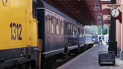 Ready to get on board? (Long Sleeper) Tags: holland clock museum train utrecht platform thenetherlands hetspoorwegmuseum dmcgx1 lumixg425mmf17asph thedutchrailwaymuseum