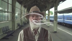 Smiling Old Man In Hat (alekseiptitsa) Tags: old portrait people white man male senior smile face hat smiling laughing beard outdoors happy person one looking adult good grandfather lifestyle elderly older aged positive caucasian
