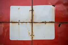 (kasa51) Tags: red sign japan text nail rusty izu grommet  shimoda