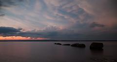 Sunset on the Ottawa river (tsandra996) Tags: sunset storm water river bay ottawa