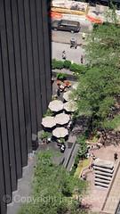 Outdoor Patio at the CBS Black Rock Building, New York City (jag9889) Tags: 2016 20160614 aerialview architecture building cbs deck facade house manhattan midtown ny nyc newyork newyorkcity observation observatory outdoor patio rockefellercenter rockefellerplaza skyscraper topoftherock tree usa umbrella unitedstates unitedstatesofamerica jag9889