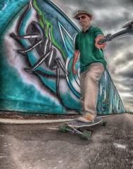 Spider 2 (D-W-J-S) Tags: portrait blur self spider grafitti fisheye skate longboard skateboard hdr selfie longboarding fractalius mvement