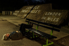 London 116 miles (Apionid) Tags: station night train bench waiting lichfield trentvalley werehere day175366 nikond7000 hereios 366the2016edition 3662016 23jun16