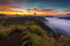 Orange Sky (Pandu Adnyana Photography Tour) Tags: travel bali sunrise indonesia landscape photography tour hill mount valley guide batur pinggan balitravelphotography baliphotographytour baliphotographyguide balilandscapetour balilandscapephotography