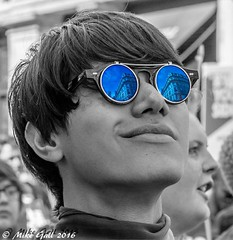 reflection_ (crusha5050) Tags: londonpride2016 prideparade parade selectivecolor selectivecolour reflection sunglasses
