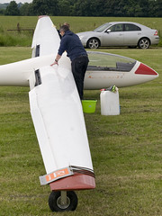 Cleaning.. (Air Frame Photography) Tags: uk england flying aircraft airplanes competition gliding glider gliders ls oxfordshire dg shenington bga regionals avgeek realflying