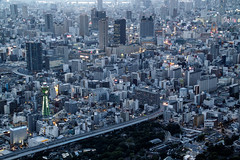 Beginning of the Osaka night (shinichiro*) Tags: 20160623sdim3855 2016 crazyshhin sigmasd1merrill sd1m sigma18300mmf3563dcmacrooshsm june summer osaka abenoharukas    japan  27873626571 201606gettyuploadesp