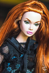 Doll meeting (astramaore) Tags: blue portrait people beauty fashion toy toys photography glamour eyes ooak indoor lips full redhead poppy 16 chic parker integrity
