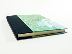 A5 notebook black & map (Armand K) Tags: handbound wwwinvariabiliacom bookbinding invariabilia handmade italy it