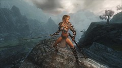 TESV - Queen of the mountain (tend2it) Tags: kenb elder scrolls skyrim v rpg game pc ps3 xbox screenshot sweetfx enb krista demonica race sg lilith 161 felicia lydia silverlight armor