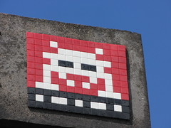 Space Invader PA_1??? (tofz4u) Tags: red white streetart black tile rouge noir mosaic spaceinvader spaceinvaders 94 invader blanc mosaque artderue valdemarne