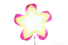 beaded plumeria flower - opal fuschia, orange, yellow and crystal (heartinhawaii) Tags: handmade variegated beadwork opalescent tropicalflower seedbeads bobbypin hawaiianflower pinkorangeyellow handmadeflower beadedflower beadwoven pinkyellowwhite hawaiianhairaccessory beadedplumeria heartinhawaii flowerwithstar beadedhawaiianflower beadedfrangipani plumeriaforhair pinkyellowcrystal hawaiianfllowerforhair hawaiianflowerpin
