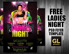 FREE Ladies Night Flyer Template (grandelelo) Tags: ladies girls party summer music house sexy girl club night advertising poster design flyer graphic ad creative free nightclub speaker download hiphop hip hop aurelio freebie dico chambal graphicriver grandelelo