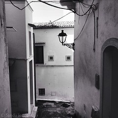Il vicolo del tempo (sanduionut) Tags: urban italy white black streets architecture square squareformat borgo iphoneography instagramapp uploaded:by=instagram