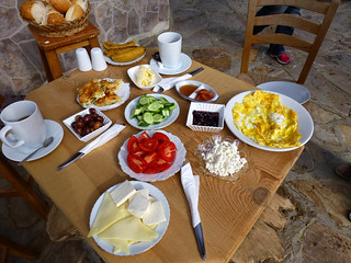 Breakfast, Selene's Pension, Kapikiri, Turkey