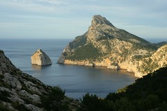 Independence (Svedek) Tags: sunset sea cliff rock island bay spain independence mallorca balears