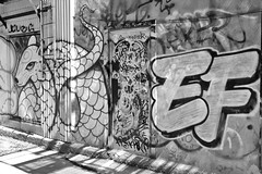 EF (damonabnormal) Tags: travel blackandwhite streetart graffiti travels control quebec may tags can tagged urbanart graff aerosol exploration tagz montrealcanada 2013 montrealgraffiti montrealstreetart fujix100