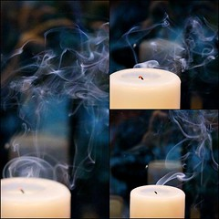 Sensory explosion (ColeyPhotography) Tags: collage candle smoke rebelt1i
