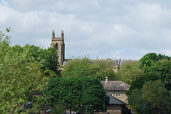 St. Martins Parish Church (Halliwell_Michael ## More off than on this week #) Tags: trees church buildings town spring rooftops stmartins chimneys westyorkshire brighouse parishchurch 2013 nikond40x