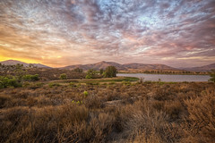 Beautiful Otay Lake at Dusk (x-ray tech) Tags: california light sunset summer sky cloud mountain lake hot color water landscape interestingness interesting twilight warm soft flickr sandiego dusk vibrant scenic vivid explore hdr highdynamicrange rollinghills chulavista photomatix ef1635mmf28l mountmiguel canoneos5dmarkii adobephotoshopcs5