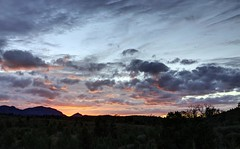 Sacred Gorge Sunset (shashin62) Tags: light sunset sun clouds dusk australia outback southaustralia flindersranges