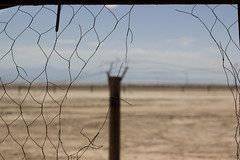 nowhere (Karina Filipovich) Tags: california old abandoned fence landscape wire sand desert nowhere destroyed californiadesert wirefence karinafilipovich karinaedith karinaeditha