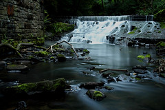 Weir at Healey Dell (Craig Hannah) Tags: river lancashire weir rochdale greatermanchester healeydell spodden