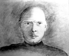"Yul Brynner charcoal • <a style=""font-size:0.8em;"" href=""https://www.flickr.com/photos/78624443@N00/9758262792/"" target=""_blank"">View on Flickr</a>"
