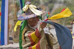 Buddhist flag - Tsechu Hemis - Sylvain Brajeul  (Sylvain Brajeul) Tags: voyage travel india color festival dance asia mask buddhist monk buddhism danse monastery asie himalaya ladakh monastre 2012 inde gompa tsechu hemis southasia vajra moine vajrayana bouddhiste bouddhism sylvainbrajeul