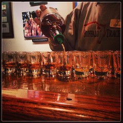 #kentucky #buffalotracedistillery (smilla4) Tags: square glasses kentucky squareformat bourbon mayfair pouring buffalotracedistillery iphoneography instagramapp uploaded:by=instagram
