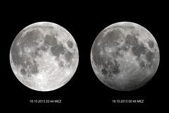 Penumbral lunar eclipse 131018.jpg (juergen.mangelsdorf) Tags: moon mond eclipse luna mondfinsternis astronomie astrofotografie celestronedgehdoptics halbschattenmondfinsternis