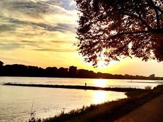Sunset (Camweazle) Tags: sunset river cologne kln rhine rhein porz ensen uploaded:by=flickrmobile colorvibefilter flickriosapp:filter=colorvibe rheinuferklnensen
