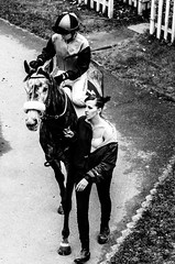 Paddock (David Doua) Tags: bw horse woman white black mono prague pov praha paddock velk chuchle