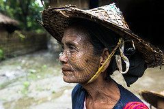 MYANMAR (BoazImages) Tags: portrait woman hat tattoo spider asia village burma web traditional culture documentary myanmar southeast tradition chin