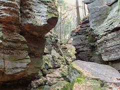 89 Parfrey's Glen (Waterfalling in Wisconsin) Tags: county wisconsin creek waterfall rocks stream natural state canyon falls glen boulders area gorge sauk parfreys