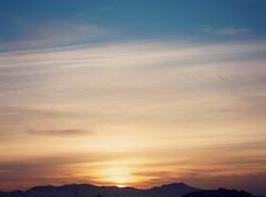 Tramonto da casa mia (Chiara Fadda) Tags: blue sunset sky orange sun flickr tramonto finepix fujifilm cagliari finepixhs20exr