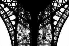La Tour #3 (Santhero) Tags: city travel urban blackandwhite bw paris france digital lumix europe eiffel panasonic toureiffel torreeiffel dsz fz8 lumixfz8 santhero bwfp digitalsuperzoom fotosanthero