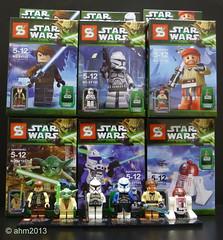 Lego Wannabes - Star Wars Minifigures (KatanaZ) Tags: starwars lego clones minifigs bootlegs minifigures